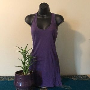 Long purple tank top